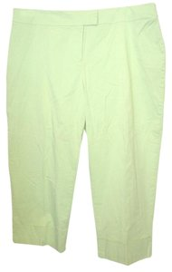 Avenue Cropped Pants Casual Pants Green Twill 18 Capris Lime Green
