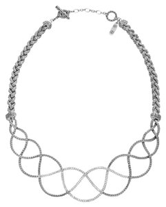 John Hardy John Hardy Sterling Silver Pave Diamond Necklace Classic Chain