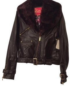 Apple Bottoms Brown Leather Jacket