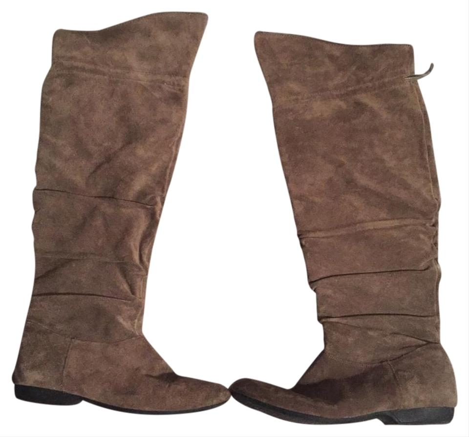 67853f9a6bc Enzo Angiolini Beige Suede Over The Knee Boots Booties Size US 8 ...