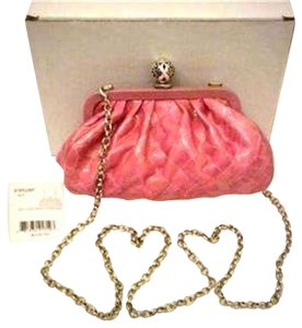 Brighton Pop City E9528f Power Of Patent Leather Pink / Violet Clutch