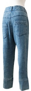 Helmut Lang Cropped Drop Crotch Capri/Cropped Denim