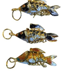 Articulated, Enamel Koi Charms