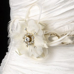 Arianna Dreamy Gold Rhinestone Floral Wedding Bridal Sash - Belt Or Ribbon Headband