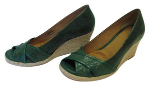 Other Size 7.50 M Very Good Condition Green, Neutral Wedges