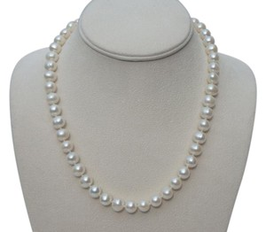 Other 9mm knotted cultured pearl necklace w/14k clasp 18
