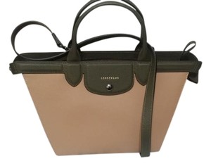 Longchamp Satchel Saffiano Crossbody kaki Messenger Bag