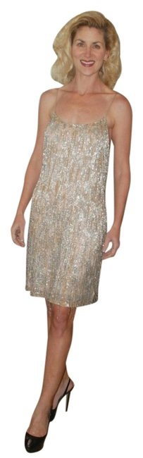 Preload https://item1.tradesy.com/images/theia-dress-nude-with-silver-beading-2015465-0-0.jpg?width=400&height=650