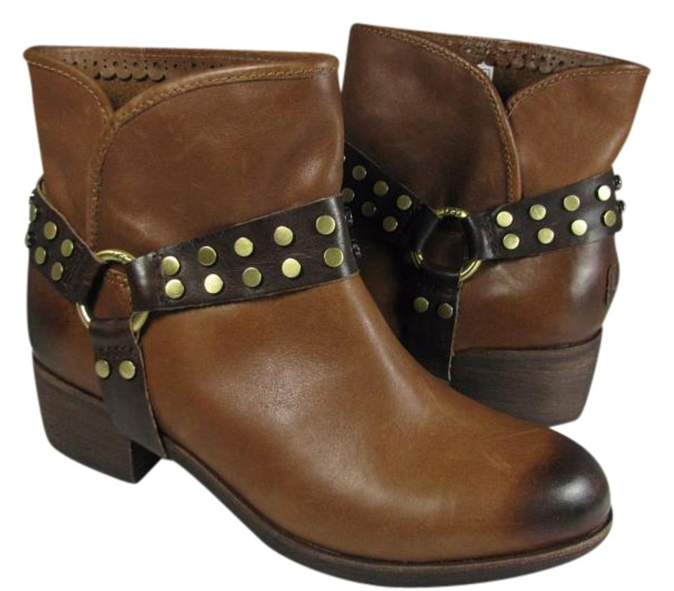 5b1b53f212f UGG Australia Brown New 1006683 Darling Leather Ankle Harness Boots/Booties  Size US 7 Regular (M, B)