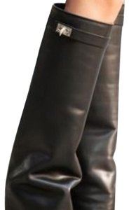 Givenchy Shark Knee Fold Over Celebrity Black Boots