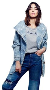 Free People Bleached Womens Jean Jacket
