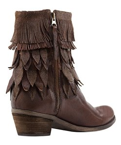 Sheridan Mia Pony Hair Fringe Leather Western Tan Boots