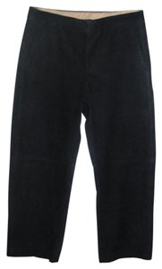 J.Crew Suede Cropped Capri/Cropped Pants Navy Blue