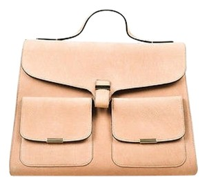 Victoria Beckham Nubuck Leather Harper Single Handle Tote in Tan