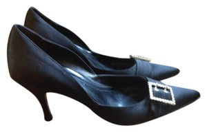 Ann Taylor Pointed Toe Bling Black Pumps
