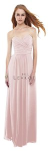 Bill Levkoff Bridesmaid Blush Chiffon Sweetheart Dress