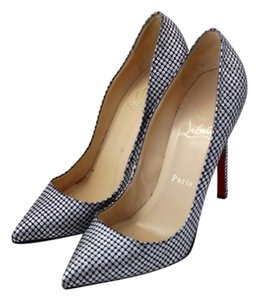 Christian Louboutin Pigalle Silver Pumps