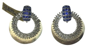 14k Gold & Sapphire Designer Earrings