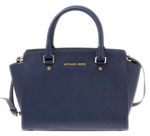 Michael Kors Selma Saffiano Leather Tote in Blue