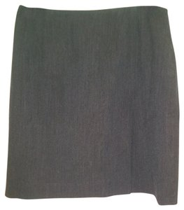 Ralph Lauren Pencil Tweed Wool Mini Skirt Gray