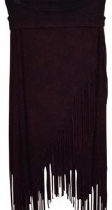 Los Angeles Maxi Skirt Bordo, dark red