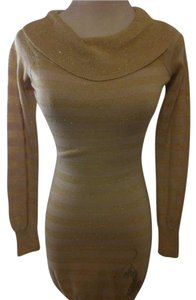 Baby Phat short dress GOLD/BEIGE on Tradesy