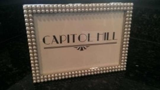 Silver and Pearl 1920s Style Pearled Frames (12) Centerpiece