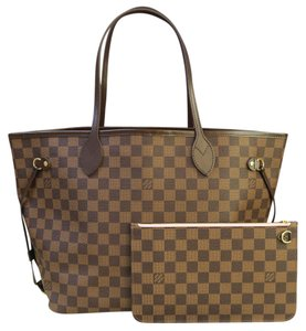 Louis Vuitton Lv Damier Mm Neverfull W/p Tote in brown