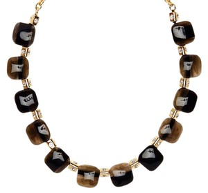 Kate Spade NEW Colorblock Station Necklace, Black, Gold, WBRUB242