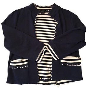 Marc by Marc Jacobs Striped Nautical Navy Blazer