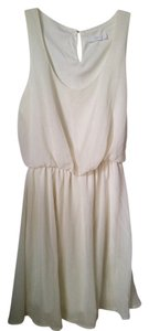 Lush short dress White Chiffon Sleeveless on Tradesy