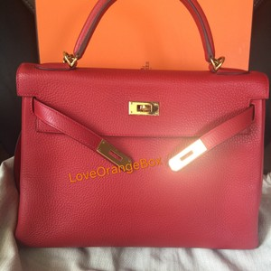Herms Togo Kelly Kelly 32 Satchel in Red