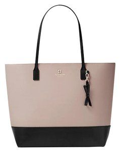 Kate Spade Leather Tote in Mousse Frost & Black
