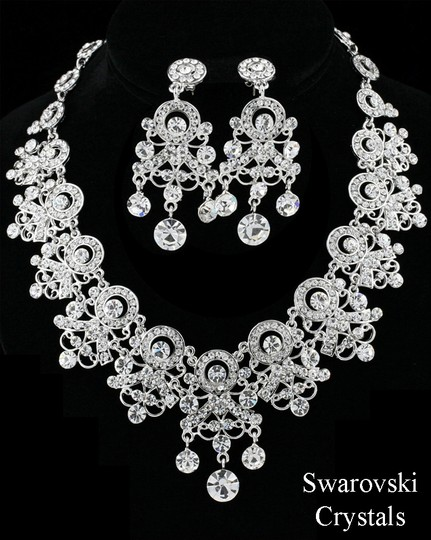 Victorian Scrol Necklace Earring Jewelry Set
