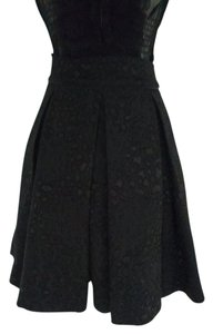 Guess Pleated Animal Print A-line Skirt Black