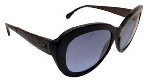 Chanel Chanel Tweed ruthenium with Enamel Navy Blue Sunglasses Butterfly