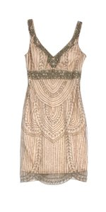 Sue Wong short dress Nude Beaded Sleeveless on Tradesy