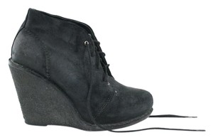 Rag & Bone Lace-up Wedge Black Leather Boots