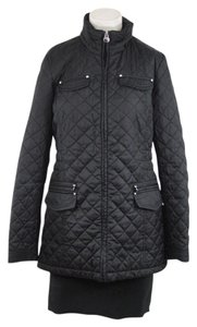 Laundry by Shelli Segal Black Quilted Jacket Coat