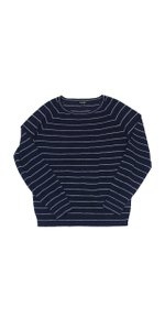 Steven Alan Navy White Striped Sweater