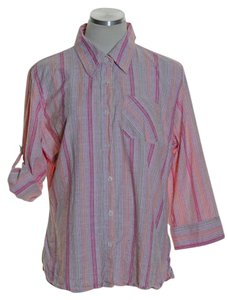 dressbarn Button Down Shirt Pink