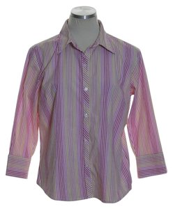 A.L.C. Button Down Shirt Pink Multi