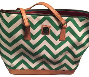 Dooney & Bourke Tote in Green & White