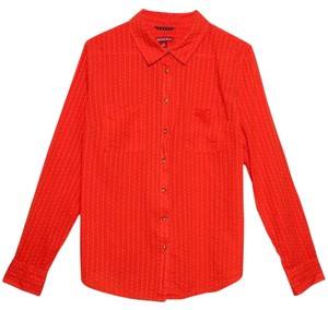Merona Button Down Shirt Orange