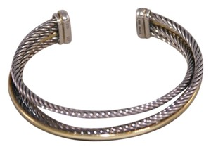 David Yurman David Yurman Crossover Cable 3-row plus Gold Row Cuff