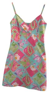 Lilly Pulitzer short dress Blue, white, pink, & green on Tradesy