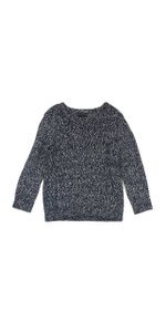 Rag & Bone Navy Grey Wool Blend Sweater