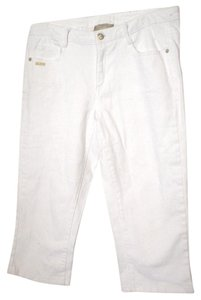 Miss Tina Cropped Pants Casual Pants Capris White