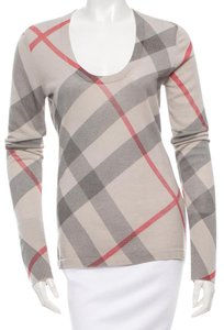 Burberry Nova Check Plaid Monogram Sweater