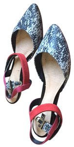 SCHUTZ Black white red Flats